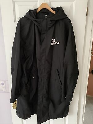 H&M Size 20 / 22 / 24 Black Raincoat Hooded Selected By...