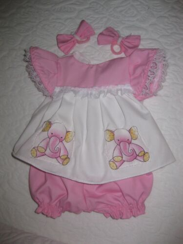 CPK doll clothes/16-18 inch/pink/white dress/bloomers/hair bows