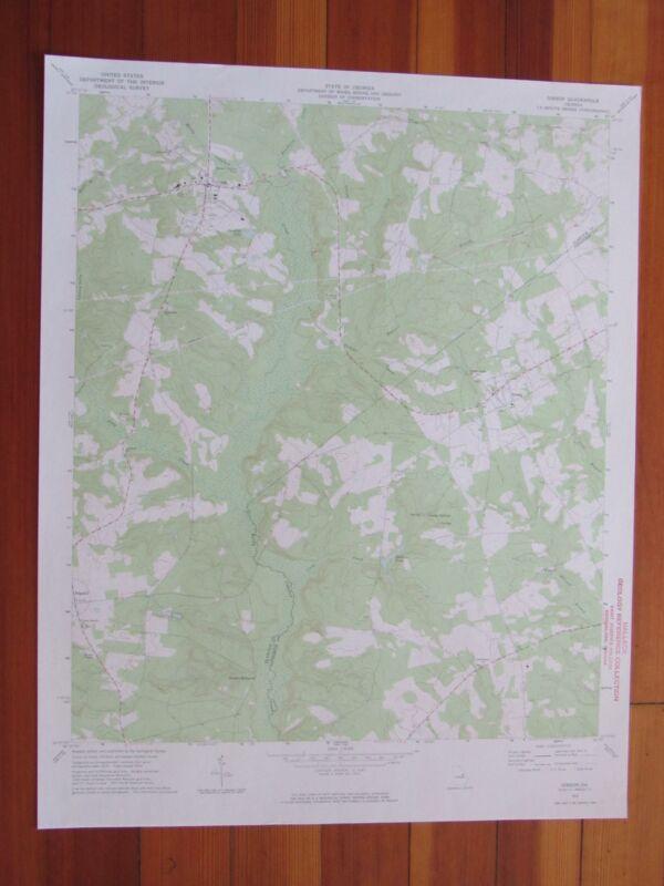 Gibson Georgia 1974 Original Vintage USGS Topo Map