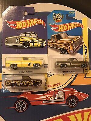 2014 Hot Wheels '83 Silverado Super Treasure Hunt With Protector Pack & Basic