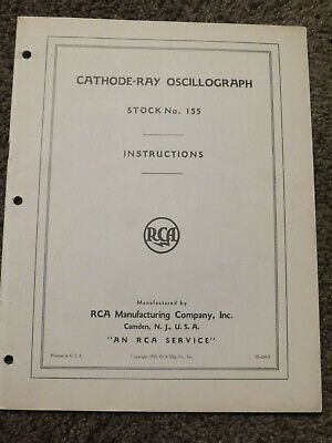 Cathode Ray Oscillograph Stock 155 Rca Instructions