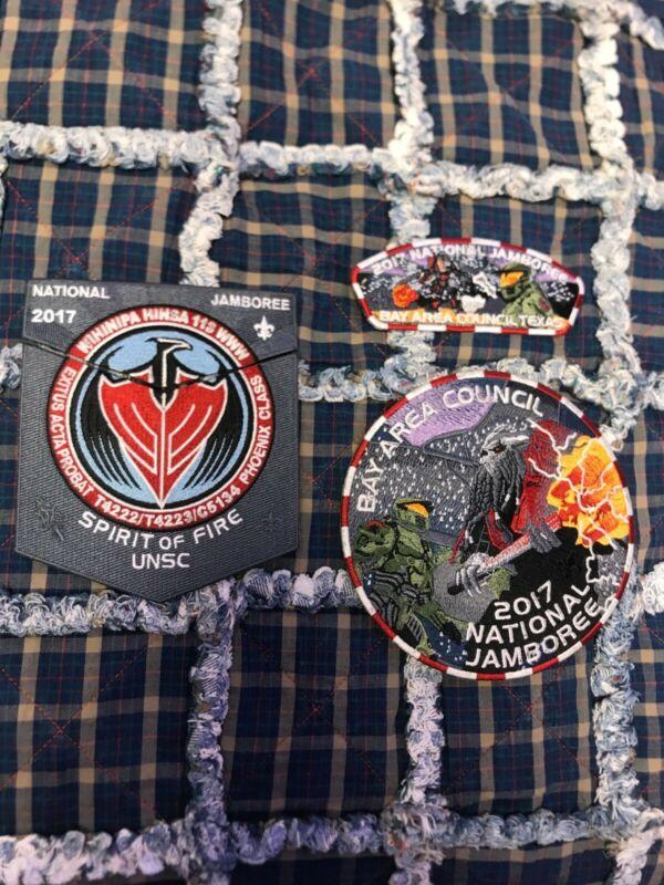 2017 National Jamboree Bay Area Halo Patch set BSA