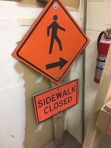Side walk closed sign
