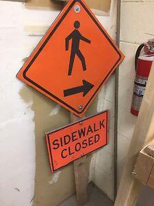 Side walk closed sign