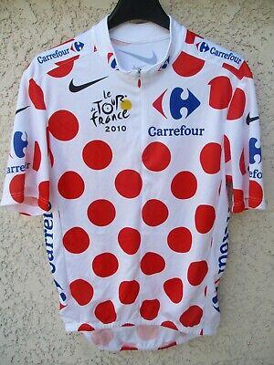 Maillot cycliste à pois Tour de France 2010 CHARTEAU Nike cycling shirt...