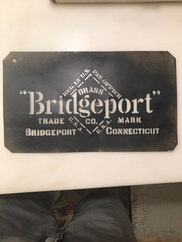 Advertising Sign BRASS CRATE STENCIL Brass Co. Connecticut