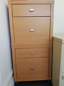 Lovely petite 2 drawer & 2 filing drawer cabinet. Office Furnitur North Adelaide Adelaide City Preview