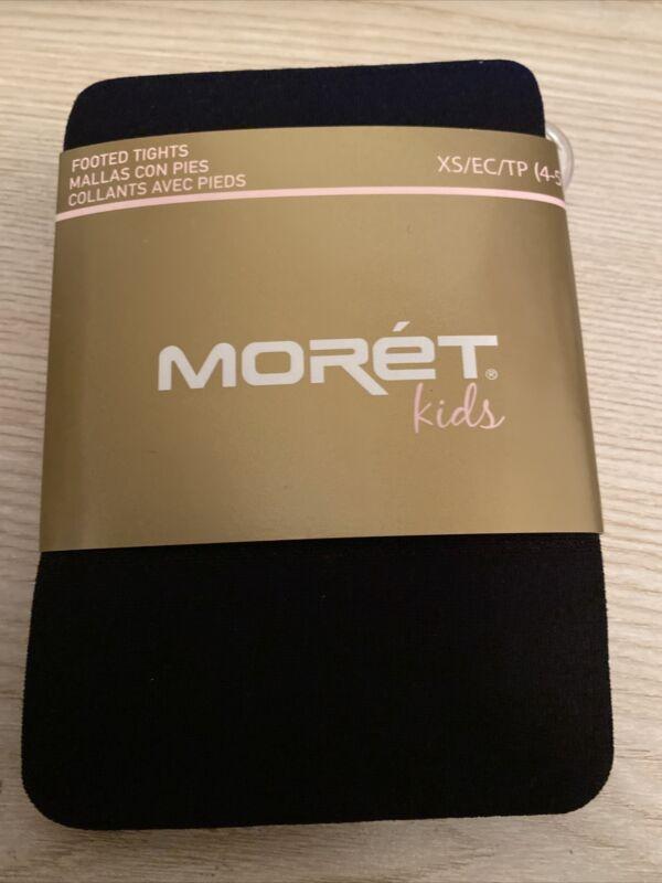 Moret Kids Black Tights XS 4/5 Dance Ballet Tap Dress School Church New Tights