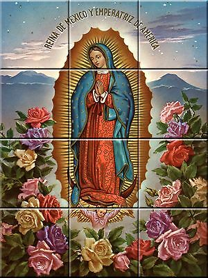 Ceramic Decorative Tile Mural Virgin of Guadalupe #3
