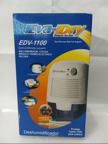 NEW IN BOX! EVA-DRY PETITE DEHUMIDIFIER EDV -1100 DAMP IN, D