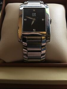 ESQ by Movado Swiss Stainless Steel Black face wristwatch