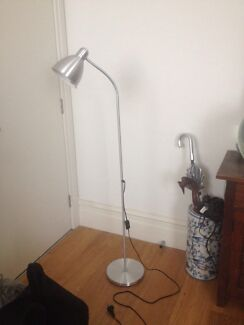 1.5metre tall silver floor lamp as new