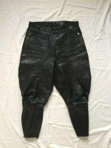 WW2 Luftwaffe German Leather Breeches Pants ZIPP Zippers