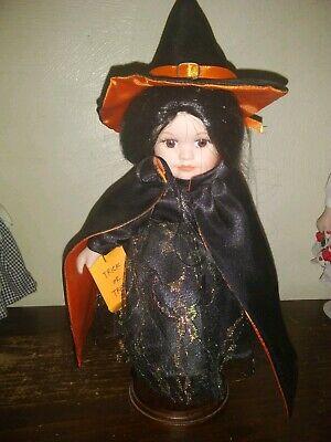 Porcelain Dolls Halloween (Halloween Witch Doll Hilda Royalton Collection Porcelain Doll Trick or)