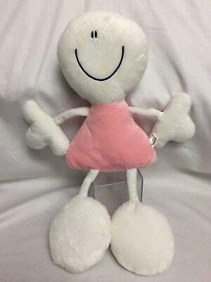 "- FULANITOS 17"" Pink & White GIRL DOLL ECO-FRIENDLY Plush Stuffed Animal Toy"