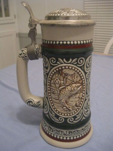 AVON COLLECTIBLE, THE HUNTING AND FISHING STEIN, 1978, NUMBERED