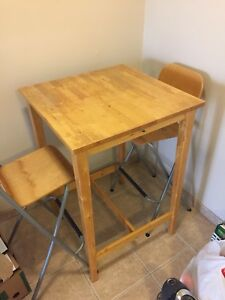 High bar table and chairs