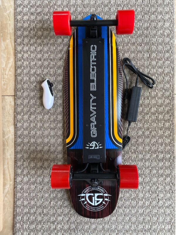 "Electric Skateboard board Gravity 29.5"" X 8.75"" Kick Tail Wood Deck  New In Box"