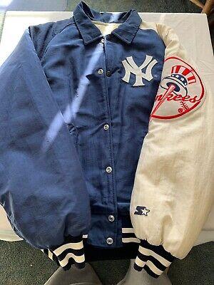 new york yankees jacket leather medium by Starter