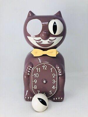 RARE ORIGINAL Vtg Kit Kat Klock Cat Clock Lilac Purple For Parts or Repair