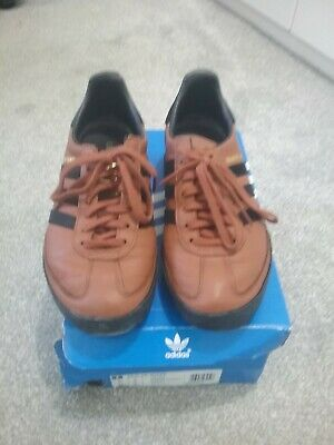 ADIDAS ORIGINALS KEGLER SUPER, BROWN, BLACK & GOLD COLOURWAY, LEATHER, SIZE 6