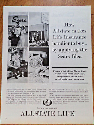 1963 Allstate Life Insurance Ad Makes Handier To Buy By Applying The Sears Idea