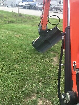 50 Hydraulic Ditching Grading Bucket For Kubota Kx057 U55 Mini Excavators