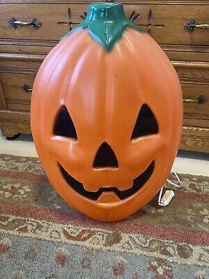 "Giant Halloween Lighted Pumpkin Blow Mold By General Foam Large Jumbo 25"" x 20"""