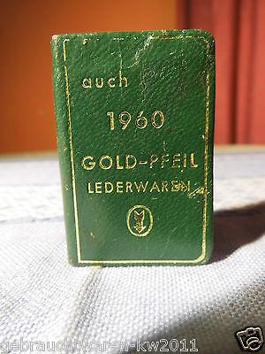 Miniaturkalender 1960 von der Firma Goldpfeil Lederwaren / Taschenkalender