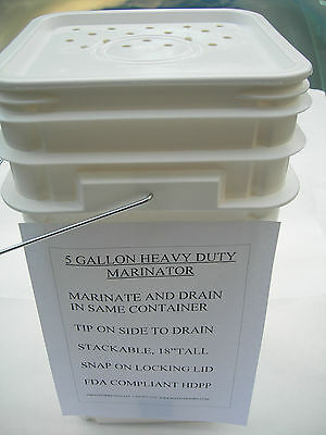 Heavy Duty Marinator Drumfda.stackable Use With Your Broaster Pressure Fryer