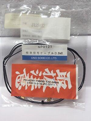 Ono Sokki Np-0121 Accelerometer Sensor Signal Cable 1.5m Vibration Measurement