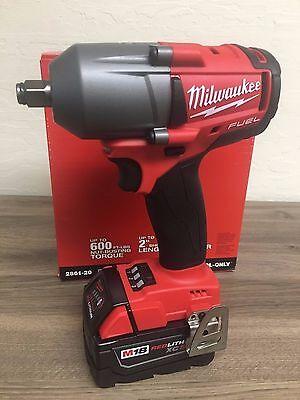 """New Milwaukee Fuel M18 2861-20 18V 1/2"""" Brushless Impact Wrench + (1) 5.0AH Batt"""