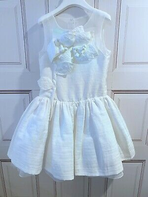 Valmax White Flower Girl Dress, Size 8 Years. Special Occasion Dress.New