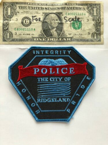 Rarer Ridgeland Mississippi Police Patch Un-sewn great condition