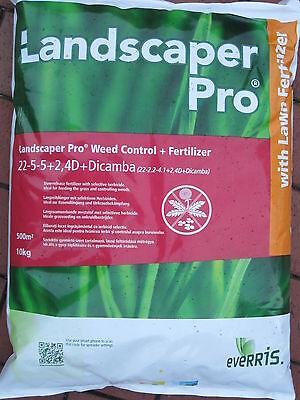Landscaper pro Weed & Control Rasendünger mit Unkrautvernichter 2*10 Kilo 1000m² ()