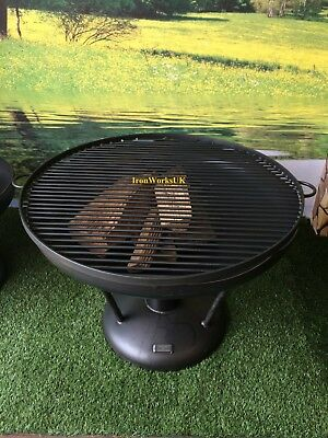 Fire Pit Brazier Logburner Wrought Iron 60cm Full Circle BBQ Grill