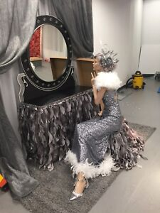 Silver Curly Willow 11ft Table Skirt