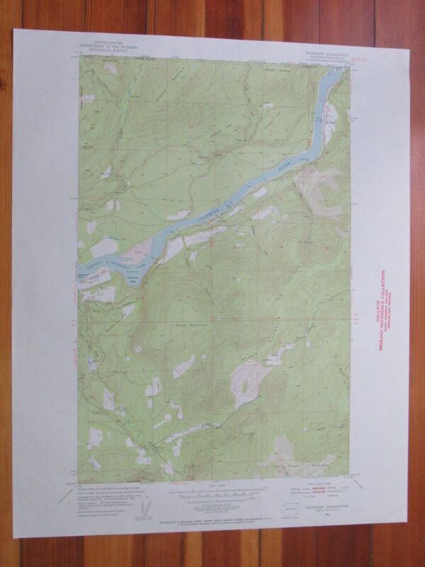 Boundary Washington 1954 Original Vintage USGS Topo Map