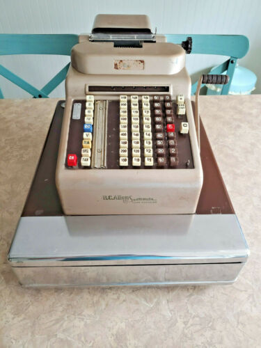 Vintage R.C. Allen Systematic Cash Register / Adding Machine - Needs Restored