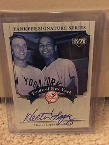 2003 UD Yankee Signatures Hector Lopez  Auto