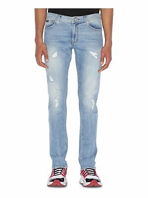 ARMANI Mens Light Blue Straight Leg Denim Jeans Size: 38 Waist