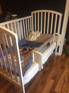 Crib / toddler bed, change table and dresser