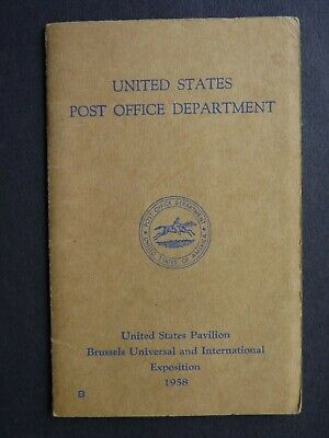 UNITED STATES POST OFFICE AT BRUSSELS EXPOSITION 1958. POCKET STAMP WALLET.