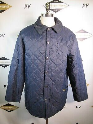 E7603 VTG BARBOUR LIDDESDALE Snap Quilted Jacket Size XL