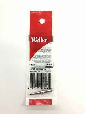 New Weller Ets 0.015 0.4mm Long Conical Tip For Pes50 Pes51 Wes50 We1010