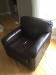 Brown Leather Club Chairs