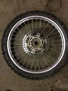 Kawasaki KX125 Front Wheel Tire Rim KX DID 21x160