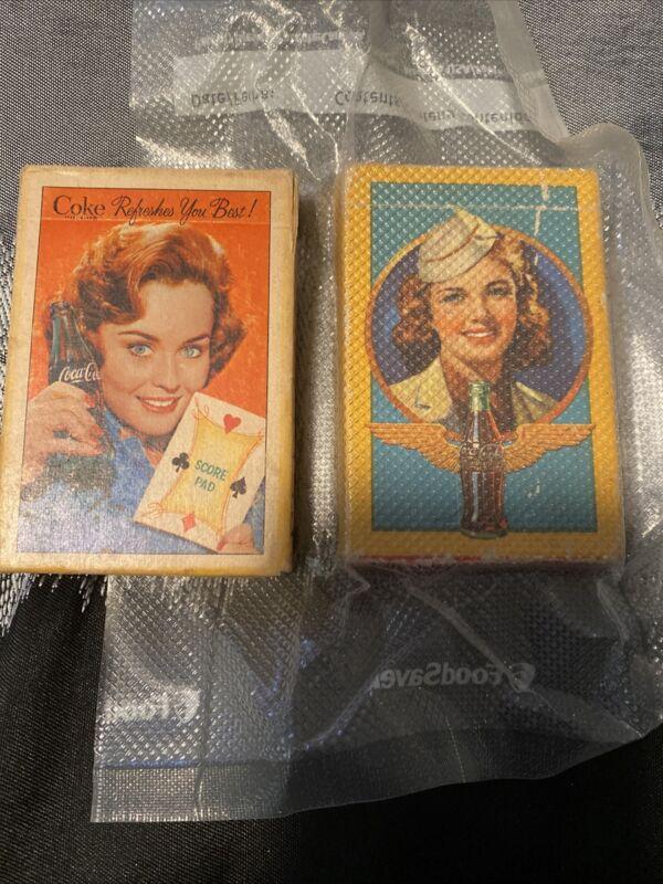 2 Boxes Of 1943 Set Of Coca Cola Playing Cards, Army Nurse, Original Box