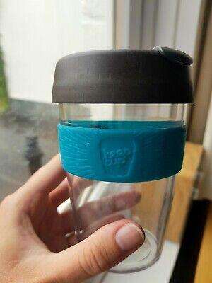 Keep Cup 12oz Teal Brown Reusable Coffee Cup