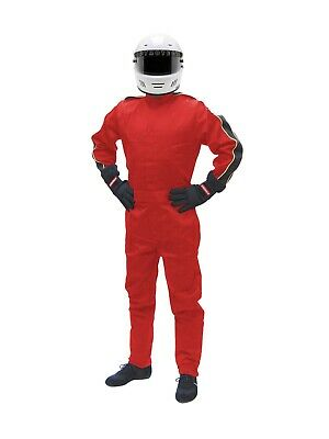 2 Layer Nomex One Piece - PYROTECT SPORTSMAN DELUXE SFI-5 2 LAYER NOMEX ONE PIECE FIRE RACING SUIT RED BLU
